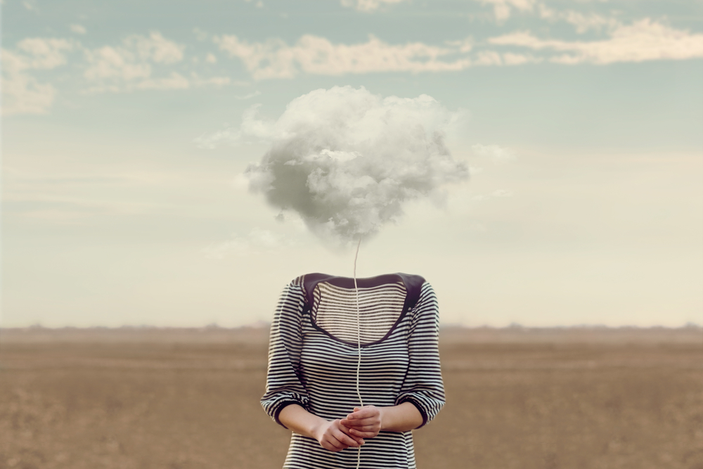 women with a cloud instead of a head